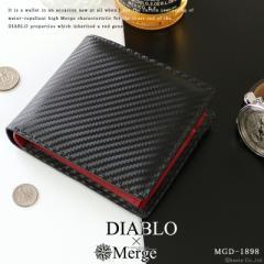 折り財布 折財布 短財布 メンズ 財布 革 レザー カーボン 合成皮革 ショートウォレット DIABLO Merge ディアブロ×マージ 【MGD-1898】