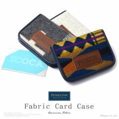 カードケース メンズ レディース フェイクレザー ウール 合成皮革 綿 使いやすい定期入れ PENDLETON ペンドルトン【PDT-173201】【mlb】