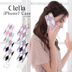 ★メール便送料無料★ iPhone7ケース iPhoneカバー レディース かわいい スマホケース ハードケース Clelia クレリア【CL-5102】【mlb】