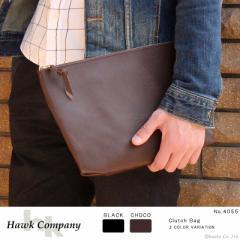 ★送料無料★ クラッチバッグ メンズ レディース シンプルで使いやすさ◎本牛革を使用したクラッチバック Hawk Company (2色)【4055】