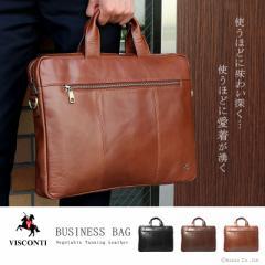 ビジネスバッグ ショルダー メンズ 牛革 本革 2way A4 VISCONTI ヴィスコンティ 【ML28】