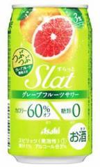 【2ケースで送料無料】アサヒ Slat すらっと グレープフルーツサワー 350ml×24缶 1ケース