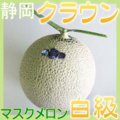 静岡県産 クラウンメロン マスクメロン 白級 1玉 高級メロン