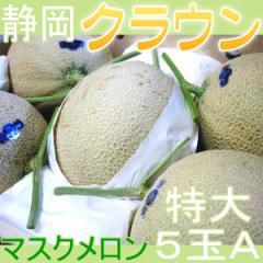 静岡県産 クラウンメロン マスクメロン A 特大5玉 高級メロン