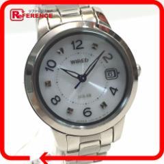 あす着 WIRED ワイアード V137-0CM0 レディース腕時計 ソーラー 腕時計 メッキ SS