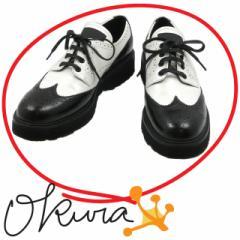 プラダスポーツ ウイングチップ シューズ メンズ 古着 ホワイト ブラック 白 黒 サイズ 約26cm 41 レザー 革 オックスフォード PRADA SPO