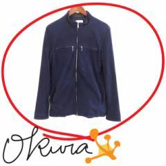 ルイス ジャケット メンズ 古着 ネイビー 紺色 サイズ S 山羊革 長袖 ジップアップ レザー スエード 無地 Luis ジャケット メンズ 送料