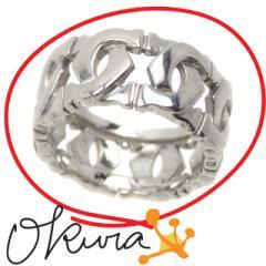 カルティエ アントルラセ リング 中古 レディース K18WG 5.5号 #46 5.1g Cartier 指輪 18金 ホワイトゴールド 750 送料無料 【中古】A215