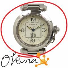 カルティエ 腕時計 パシャC ビッグデイト 中古 ボーイズ W31055M7 オートマ SS Cartier 自動巻き レディース メンズ ユニセックス 送料無