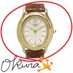 セイコー 腕時計 クレドール 中古 レディース 4J81-5030 クォーツ K18YG 革ベルト SEIKO 電池式 18金 750 イエローゴールド 送料無料 激