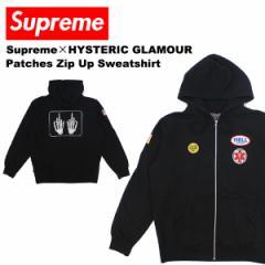 【送料無料】シュプリーム×ヒステリックグラマー(Supreme)Patches Zip Up Sweatshirtフードパーカー/男性用/メンズ[CC]