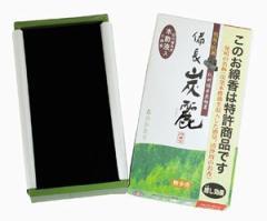備長炭麗(びんちょうたんれい)120g  【紀州備長炭木酢液配合の線香。森の香り。煙が少ない】