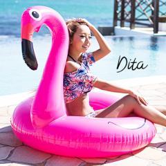 送料無料 Dita【ディータ】フラミンゴ浮き輪 即納 遊び道具 浮輪 うきわ 海水浴 ビーチ プール 旅行 リゾート ビーチ SNS 大きい 2017