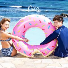 送料無料 Dita(ディータ)新作ドーナツ浮き輪 即納 浮輪 うきわ ビーチ 夏 プール リゾート ビーチ SNS 大きい