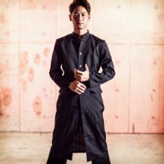 メンズ コスチューム ツッパリヤンキー長ラン2点セット(上着、パンツ)ハロウィン コスプレ 仮装 衣装 男性 学生 制服