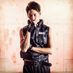 SWAT スワット(特殊ポリス) 4点セット(ベスト、パンツ、ベルト、グローブ) 警察 警官 ハロウィン コスプレ 仮装 衣装 男性 メンズ