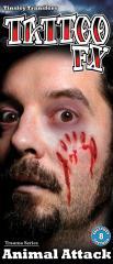 【即納】【SALE】傷タトゥーシール(Animal Attack)/全1色ハロウィン コスチューム コスプレ 衣装 仮装 ハロウィーン メイクグッズ 怪我