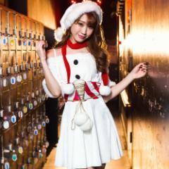 即納 雪だるまサンタ 3点セット  Xmas xmas 赤 白 雪 かわいい 可愛い クリスマス 即日発送 セクシー