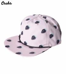【即納】CRSHR【クラッシャー】black strawberry flatbill/全1色【キャップ ユニセックス 男女兼用 帽子 レディース】