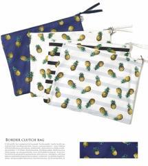 【即納】Dita Select【ディータセレクト】国産パイナップル柄クラッチバック/全4色 クラッチ レディース