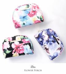 Dita【ディータ】花柄ポーチ(ブルーム)/全3色[小物]化粧ポーチ メイクポーチ プレゼント ※商品によって柄の位置が異なります。※