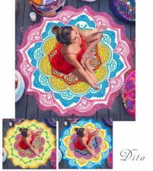 【即納】送料無料 Dita【ディータ】ビーチマット/全3色 ビーチ ラウンドビーチ  ヨガマット 海 プール インスタ【ゆうパケット2】