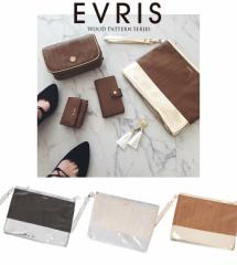 【即納】【SALE】EVRIS【エヴリス】ウッドメタリッククラッチBAG(バッグ)/全3色クラッチ レディース