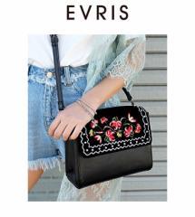 【即納】【SALE】EVRIS【エヴリス】EMBROIDERYスタッズショルダーBAG(バッグ)ショルダーバッグ レディース