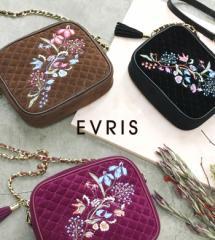 【即納】EVRIS【エヴリス】EMBROIDERYキルティングショルダーBAG/全3色[小物]レディース