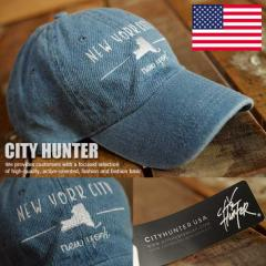 USAブランド CITY HUNTER ローキャップ CH-D104-01 キャップ 帽子 メンズ レディース 正規品 NEW YORK 180723