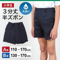小学生用 学生服 3分丈半ズボン (110cmA〜170cmB)(取寄せ)