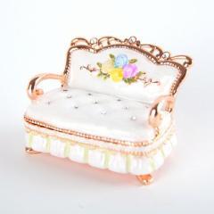 【ジュエリーボックス】【ミニチュア家具シリーズ】 ミニソファー ジュエリーボックス EX4412 ホワイト