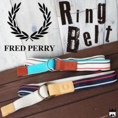 フレッドペリー FRED PERRY メンズ(男性用) F19609 リングベルト 綿 牛皮 本革 ローレル 月桂樹 01 34 evid