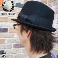 フレッドペリー FRED PERRY  メンズ レディース  F9491 デッカートリルビー フェルト 中折れ ハット 帽子 月桂樹 ブラック 07 evid