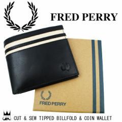 フレッドペリー FRED PERRY メンズ レディース 財布 L8234 コイン ウォレット 財布 二つ折り 月桂樹 ローレル 黒 ブラック ティップライ
