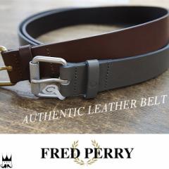 フレッドペリー FRED PERRY 送料無料 メンズ アパレル BT1406 オーセンティックレザーベルト 牛皮 本革 月桂樹 ローレル evid