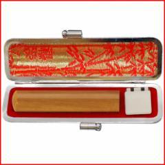 【送料無料】個人印鑑実印 黒モミケースセット ナツメ 16.5mm 【メール便発送】 【wk070】