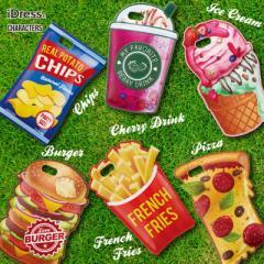 アメリカンデリ iPhone7 6s ケース おもしろハンバーガー ドリンク ポテト ピザ アイス ポップコーン アメリカ ポップ デザイン