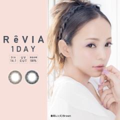 ReVIA (レヴィア) 度あり 度なし ■circle■ ワンデー 1day 1箱10枚入 全2色 安室奈美恵 DIA14.1mm カラコン ブラウン