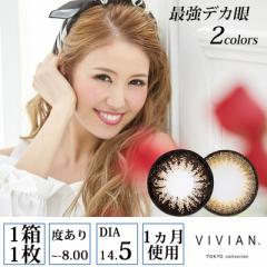 VIVIAN TOKYO collection 最強デカ眼 度あり マンスリー 1ヶ月 1箱1枚入×2セット 全2色 DIA14.5mm CYBER JAPAN カラコン