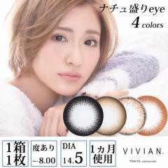 VIVIAN TOKYO collection ナチュ盛りeye 度あり マンスリー 1ヶ月 1箱1枚入×2セット 全4色 DIA14.5mm CYBER JAPAN カラコン