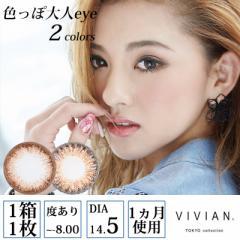 VIVIAN TOKYO collection 色っぽ大人eye 度あり マンスリー 1ヶ月 1箱1枚入×2セット 全2色 DIA14.5mm KAREN カラコン
