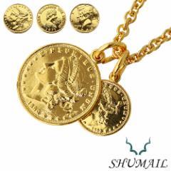 【セール 対象品12月19日9:59迄】【シュメール】ダブルゴールドコインペンダント ブランド:SHUMAIL [真鍮] ブラス アクセサリー
