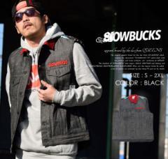 [SALE]SLOWBUCKS スローバックス 中綿ベスト メンズ 07345 ヒップホップ B系ファッション ストリート系 ダンス衣装