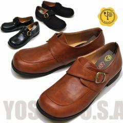 即納!おじ靴 モンクストラップシューズ レディース YOSUKE U.S.A ヨースケ ※(予約)は3営業日内に発送
