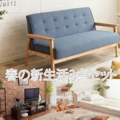 【送料無料】新生活用ソファー、ベッド、TV台3点...
