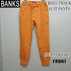 BANKS/バンクス ROLL TRACK メンズ スウェットパンツ BURNT KHAKI ボトムス トラックパンツ 送料無料