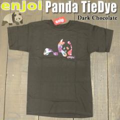 ENJOI/エンジョイ メンズ 半袖Tシャツ【PANDA TIE DYE S/S TEE DARK CHOCOLATE】男性用T-SHIRTS スケートボード/スケボー/SK8