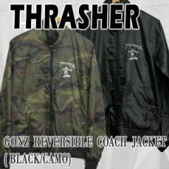 THRASHER/スラッシャー GONZ REVERSIBLE COACH JACKET MENS メンズ 男性用 リバーシブル コーチジャケット ウィンドブレーカー