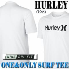 HURLEY/ハーレー NIKE DRI-FIT ONE & ONLY 半袖サーフTシャツ ラッシュガード WHITE 10A S/S  サーフィン用 男性用水着 UVカット
